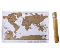 Скретч карта мира в коробке 30*42 см на английском языке