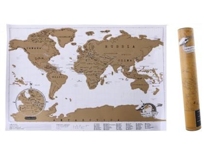 Купить Скретч карта мира в коробке 30*42 см на английском языке