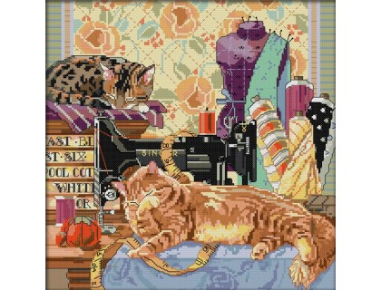 Купить Набор вышивки крестом Два кота 40х40 см (арт. MK004)