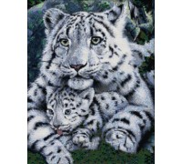 Вышивка крестом набор Два белых тигра 36х44 см (арт. MK005)