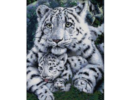 Купить Вышивка крестом набор Два белых тигра 38х46 см (арт. MK005)