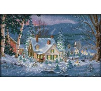Вышивка крестиком набор Снежная ночь 55х37 см (арт. MK018)