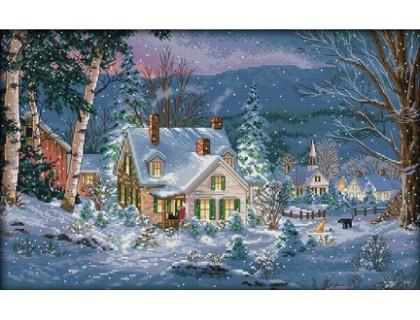 Купить Вышивка крестиком набор Снежная ночь 55х37 см (арт. MK018)