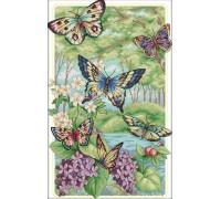 Вышивка крестиком Лесные бабочки 32х47 см (арт. MK023)