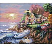 Вышивка крестиком набор Дом у моря 44х36 см (арт. MK026)