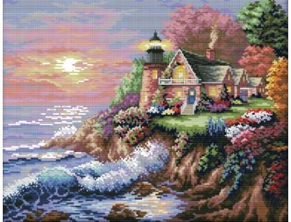 Купить Вышивка крестиком набор Дом у моря 44х36 см (арт. MK026)