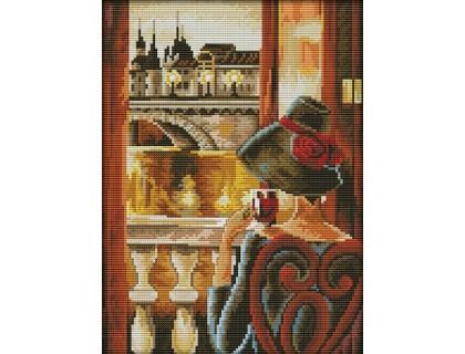 Купить Вышивка крестиком Дама у окна 27х37 см (арт. MK031)