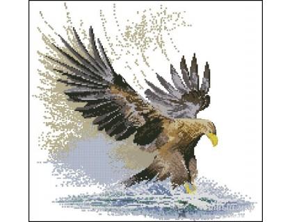 Купить Набор для вышивания счетным крестом Орел в полете 44х42 см (арт. MK039)