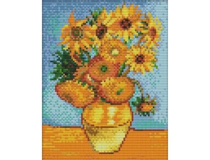Купить Набор для вышивания крестиком Величественные подсолнухи 21х25 см (арт. MK041)
