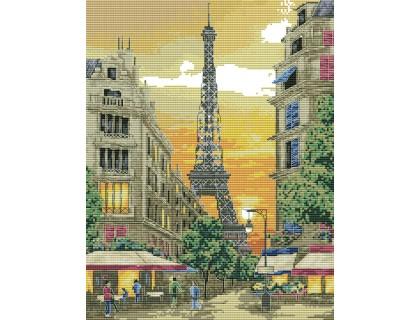 Купить Набор для вышивания крестиком Эйфелева башня 35х42 см (арт. MK042)