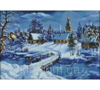 Вышивка крестиком Зимний пейзаж 58х43 см (арт. MK058) канва 14